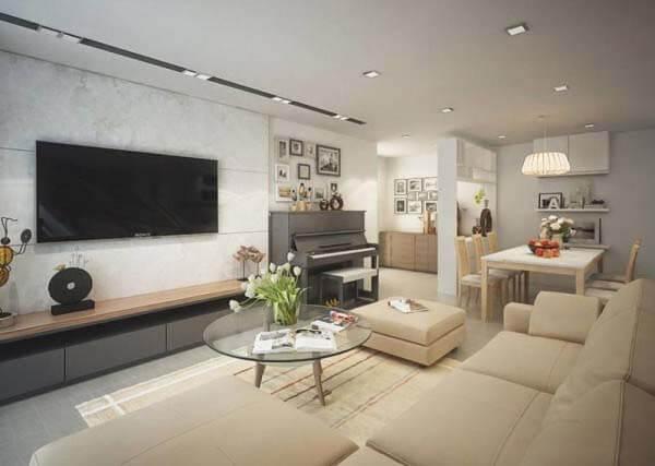 Gam màu trắng kem mang đến vẻ đẹp trang nhã cho căn hộ của bạn