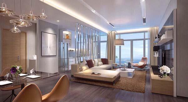 Không gian căn hộ chung cư hiện đại và ấn tượng, vô cùng cao cấp và sang trọng.