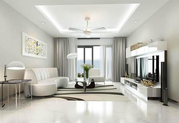 Không gian rộng rãi được thiết kế vừa đơn giản nhưng lại tinh tế và sang trọng khiến nhiều người mê mẩn.