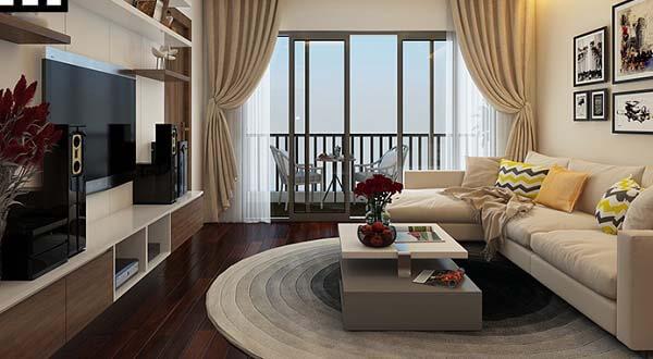 Mẫu thiết kế nội thất phòng khách căn hộ