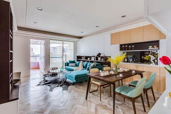 Một trong những mẫu thiết kế nội thất căn hộ được ưa chuộng hiện nay