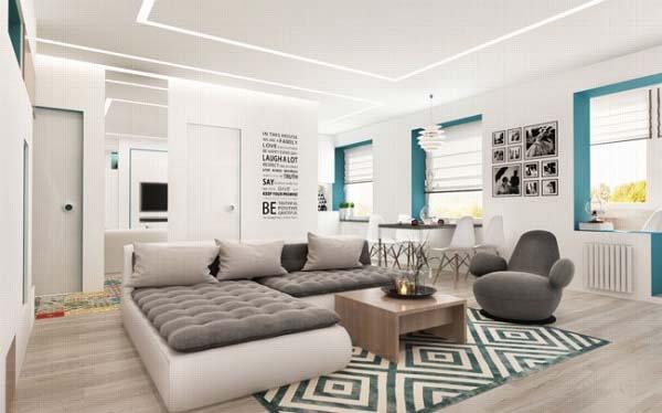 """Nét đẹp hiện đại và trang nhã giúp căn hộ nhỏ """"ăn gian"""" diện tích tối đa tốt nhất"""