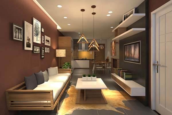 Những tone màu trầm khá được yêu thích khi thiết kế nội thất căn hộ