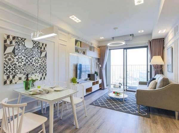 Phong cách căn hộ hiện đại, trẻ trung nên phù hợp với nhiều gia đình.