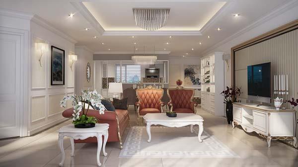 Phong cách nội thất tân cổ điển sang trọng và đẳng cấp