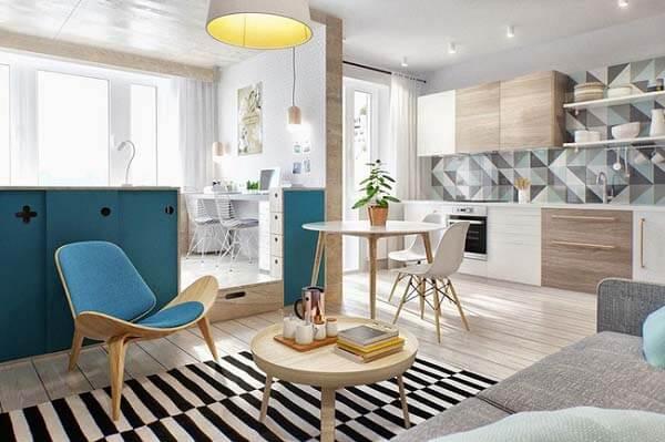 Sự phối màu hài hòa tạo điểm nhấn cho căn hộ