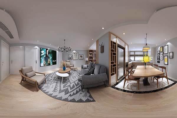 Căn hộ 2 phòng ngủ với diện tích khoảng 70m2 được mở rộng tối đa theo phong cách tối giản và đầy thu hút.