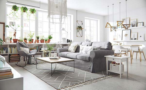Thiết kế căn hộ nhỏ đơn giản theo phong cách Châu Âu hiện đại