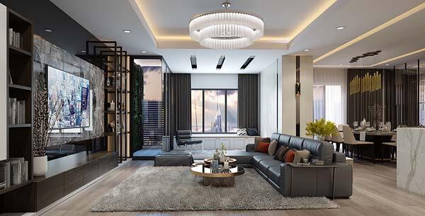 Thiết kế căn hộ hạng sang ấn tượng và tạo nên điểm nhấn đẳng cấp nhất định.