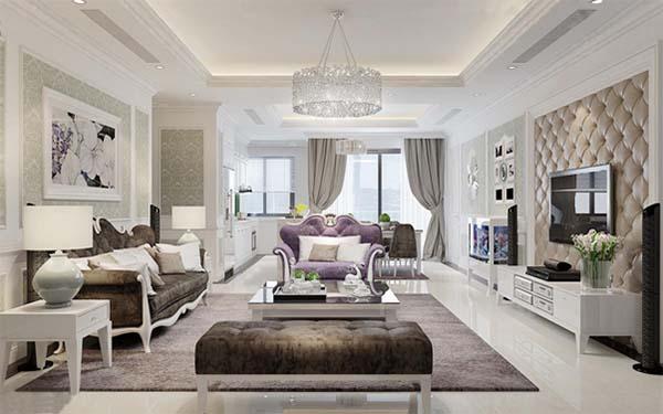 Chung cư 3 phòng ngủ được thiết kế theo phong cách hoàng gia, sang trọng