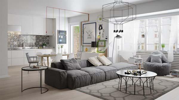 Nét đẹp độc đáo trong thiết kế nội thất căn hộ chung cư mang phong cách Bắc Âu