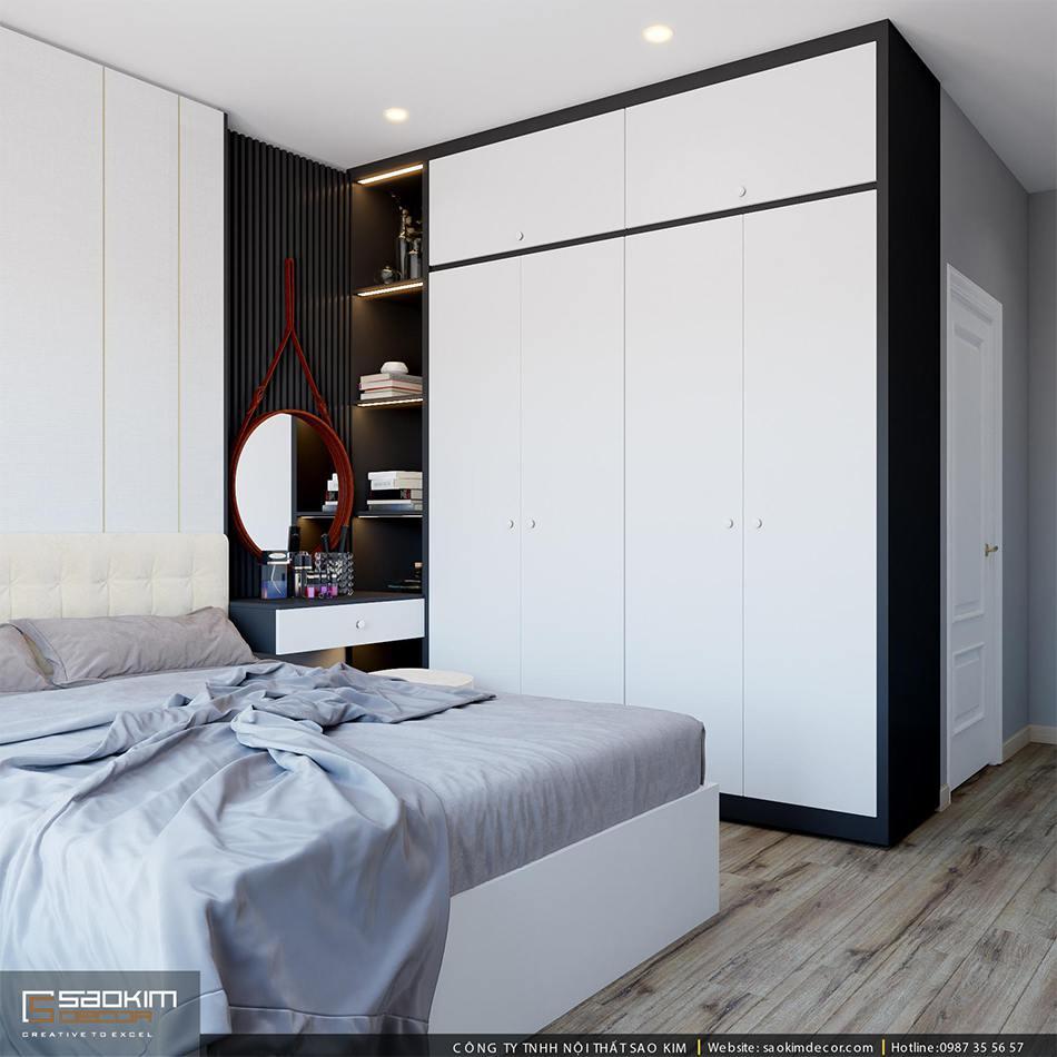 Thiết kế phòng ngủ chung cư - phòng ngủ master
