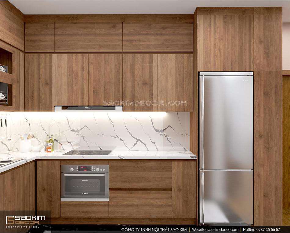 Thiết kế nội thất phòng bếp chung cư FLC Garden City