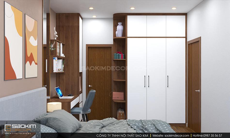 Thiết kế nội thất phòng ngủ master chung cư FLC Garden City