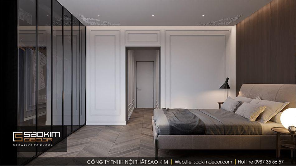 Thiết kế phòng ngủ 2 căn hộ Vinhome Ocean Park