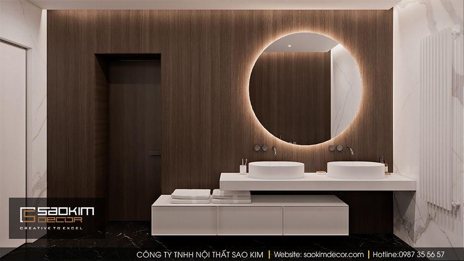 Thiết kế nội thất phòng tắm chung cư Vinhome Ocean Park