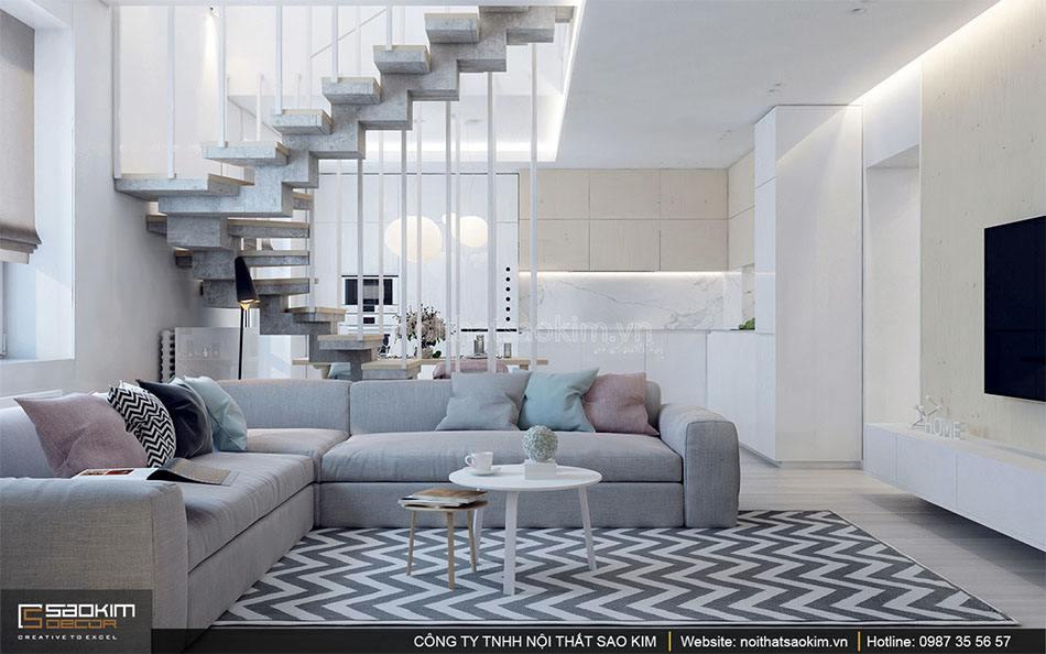 Thiết kế nội thất căn hộ duplex - Golden Westlake