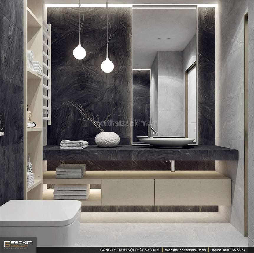 Thiết kế phòng tắm căn hộ duplex