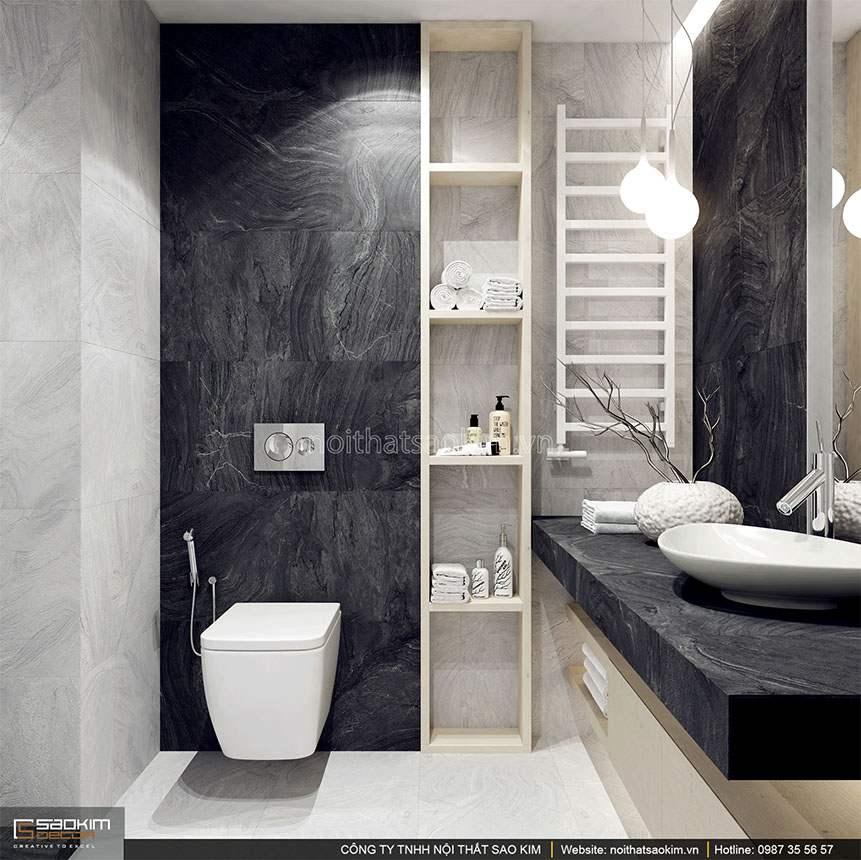 Thiết kế phòng tắm căn hộ duplex - Golden Westlake