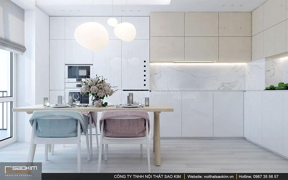 Thiết kế nội thất phòng bếp căn hộ
