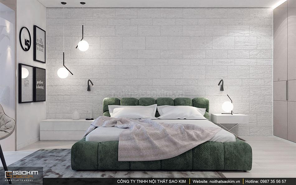 Thiết kế nội thất phòng ngủ master căn hộ duplex - Golden Westlake