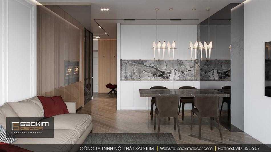 Thiết kế nội thất chung cư hiện đại Hateco La Roma