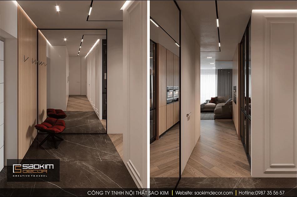 Thiết kế chung cư 94m2 phong cách hiện đại Hateco La Roma