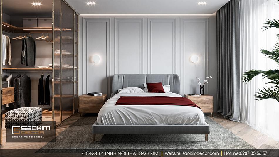 Thiết kế phòng ngủ master chung cư Hateco La Roma