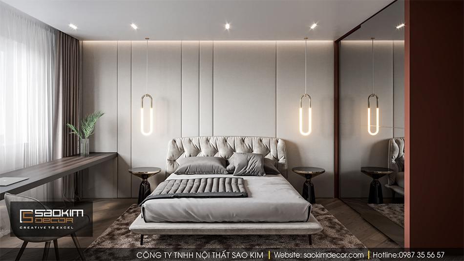 Thiết kế nội thất phòng ngủ chung cư Hateco La Roma