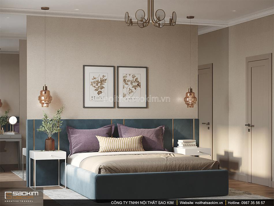 Thiết kế phòng ngủ căn hộ 6TH Element