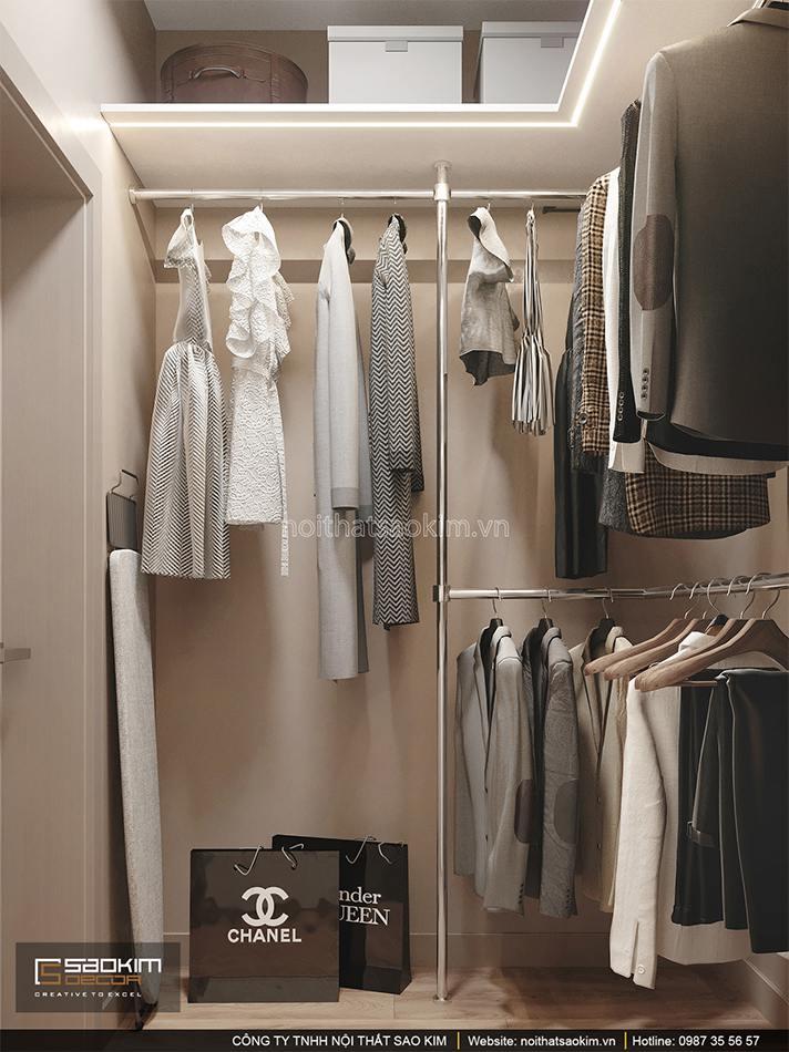 Thiết kế phòng thay đồ căn hộ chung cư 6TH Element