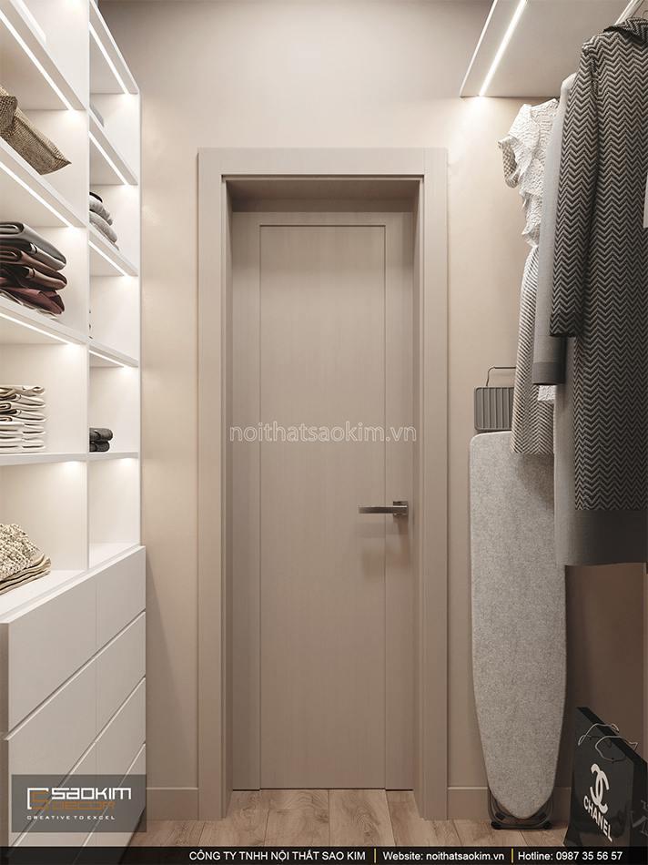 Thiết kế phòng thay đồ căn hộ chung cư