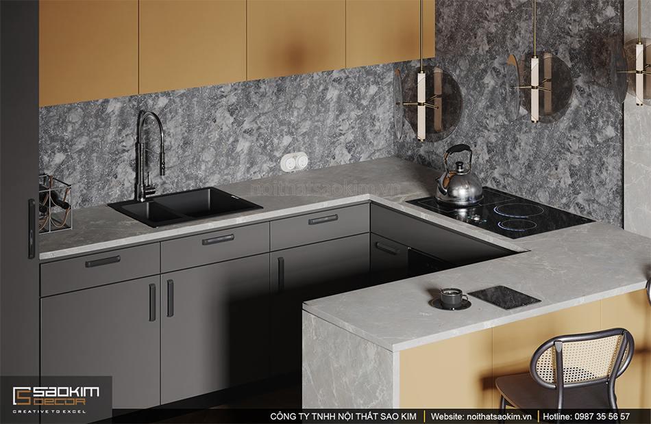 Thiết kế phòng bếp theo phong cách retro