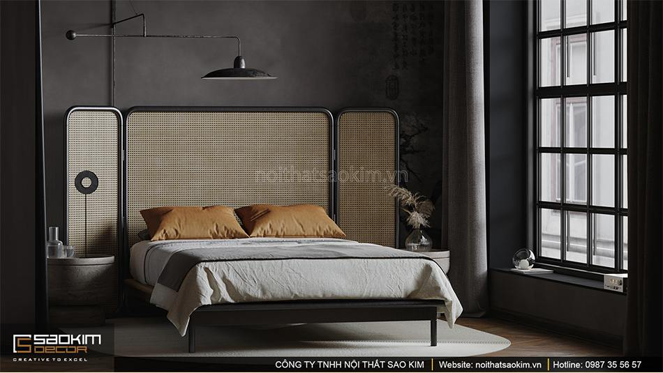 Thiết kế phòng ngủ chung cư Vinhomes Ocean Park