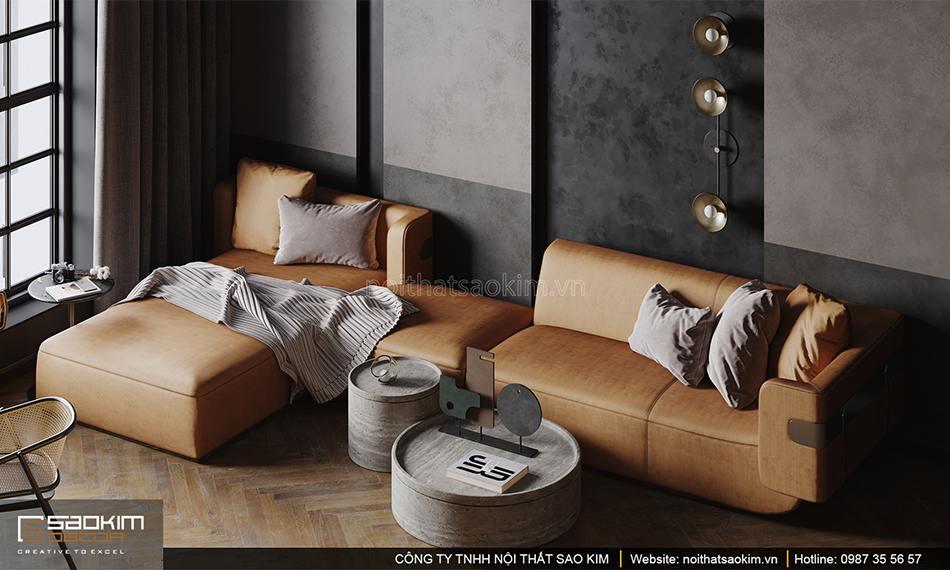 Thiết kế phòng khách chung cư theo phong cách retro