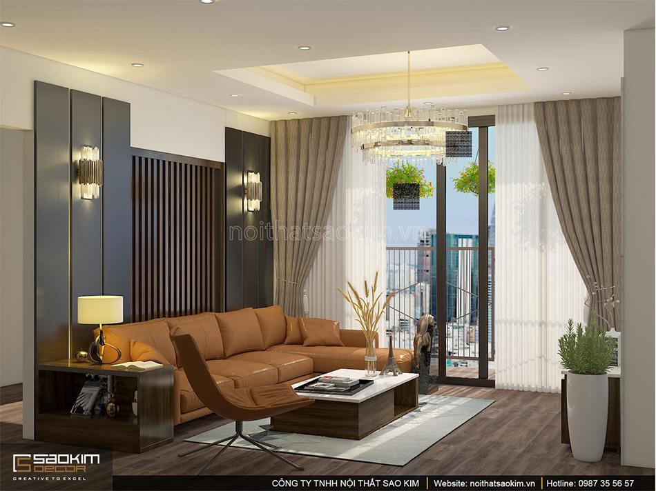 Thiết kế nội thất chung cư 100m2 PHC Complex Diện Tích