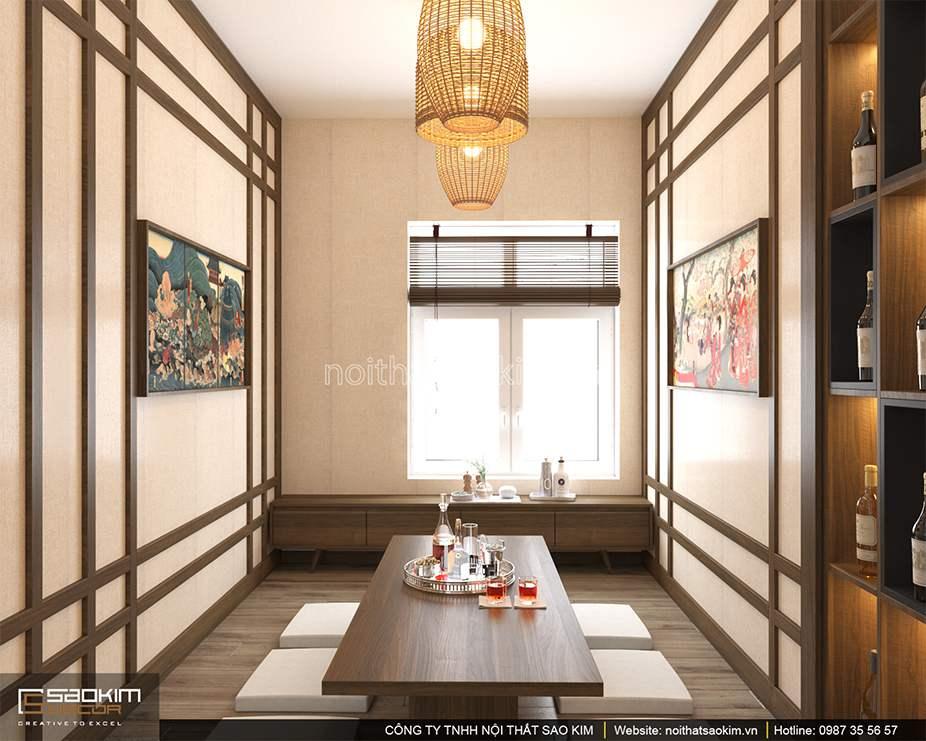 Thiết kế nội thất phòng ăn chung cư PHC Complex