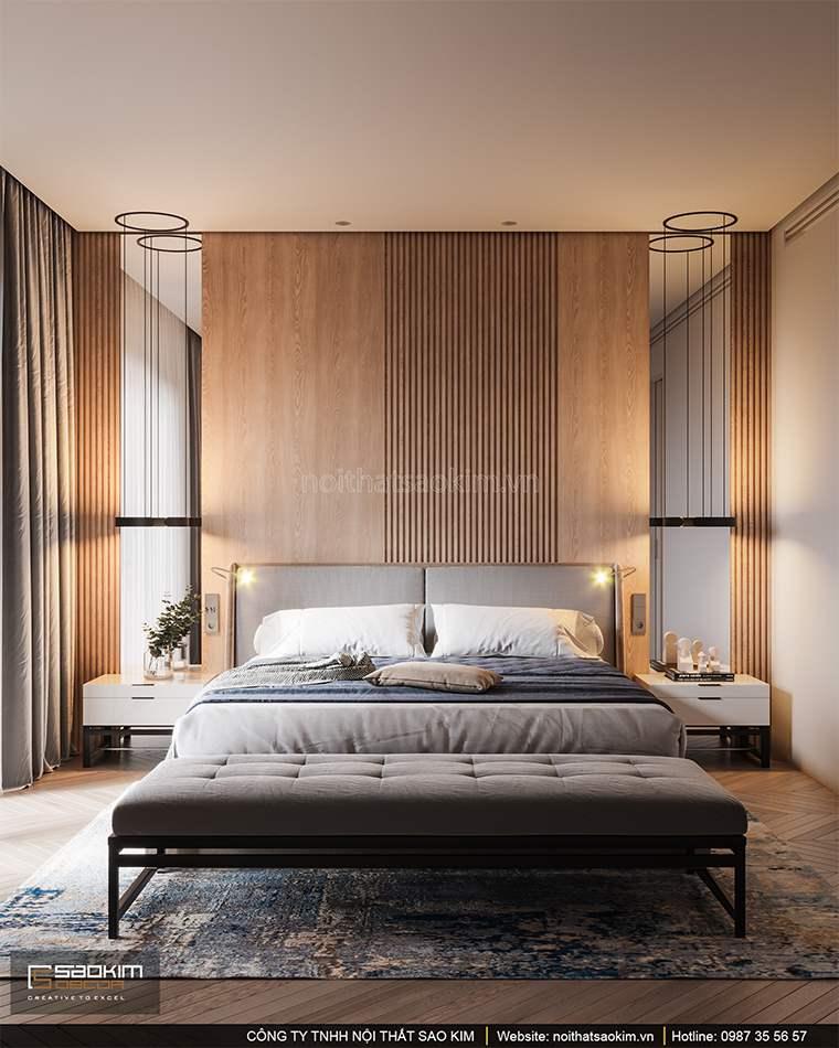 Thiết kế phòng ngủ căn hộ cao cấp Vinhomes West Point