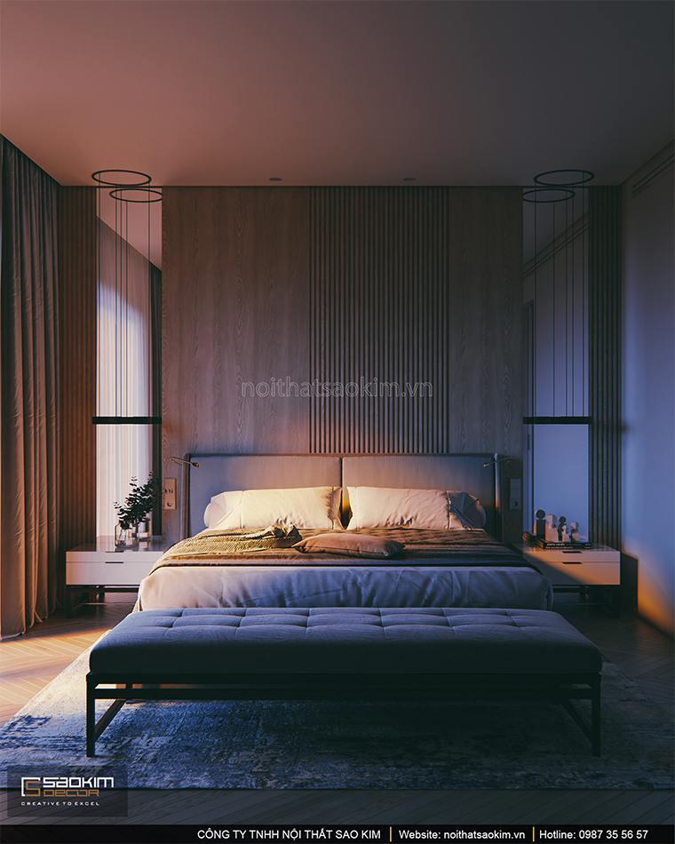 Thiết kế phòng ngủ master căn hộ cao cấp Vinhomes West Point