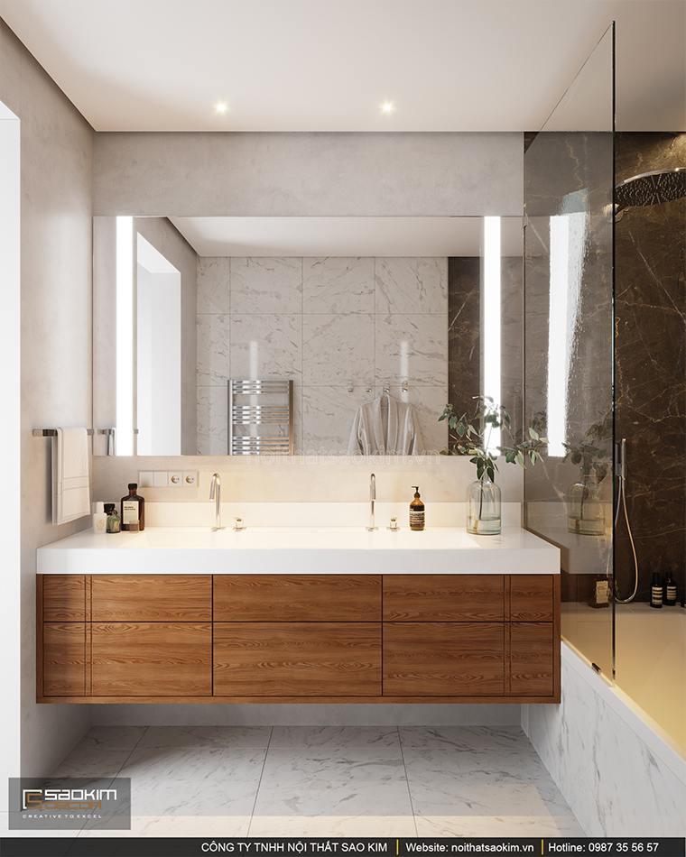 Thiết kế phòng tắm căn hộ cao cấp Vinhomes West Point