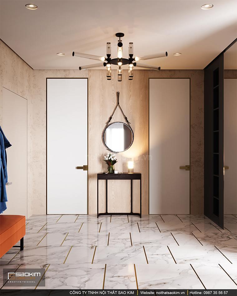 Thiết kế hành lang căn hộ cao cấp Vinhomes West Point