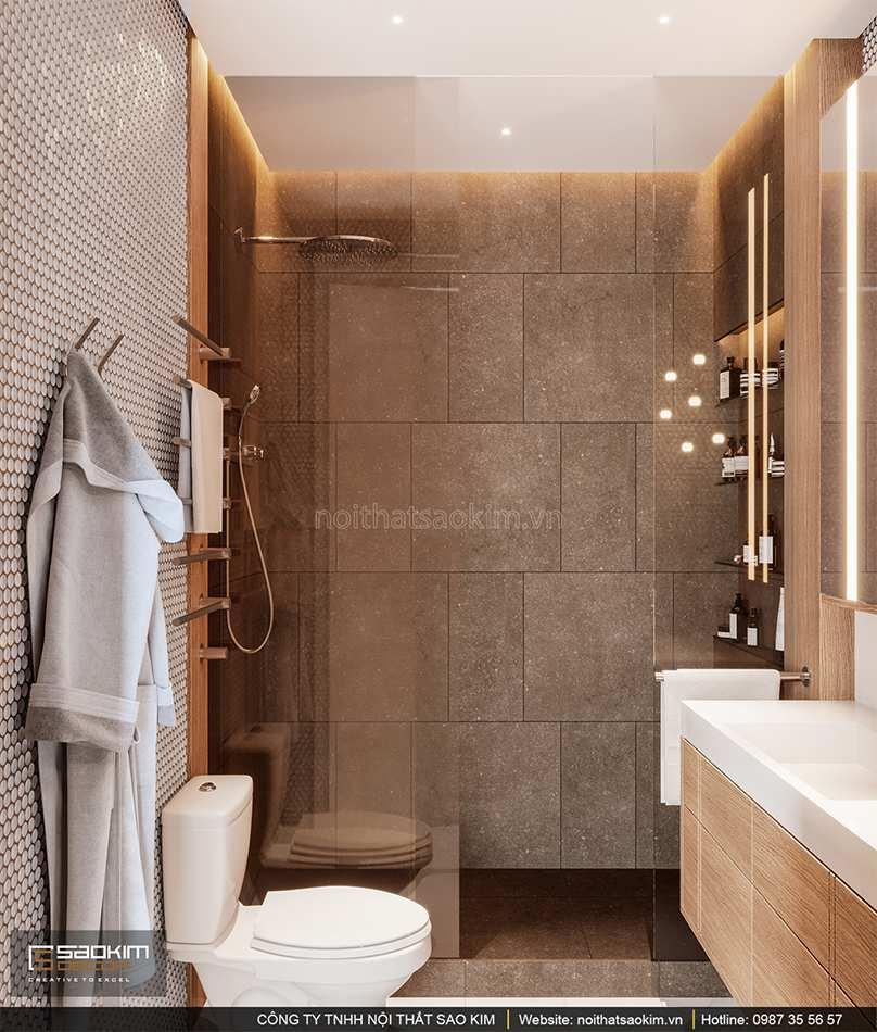 Thiết kế phòng tắm chung cư cao cấp Vinhomes West Point