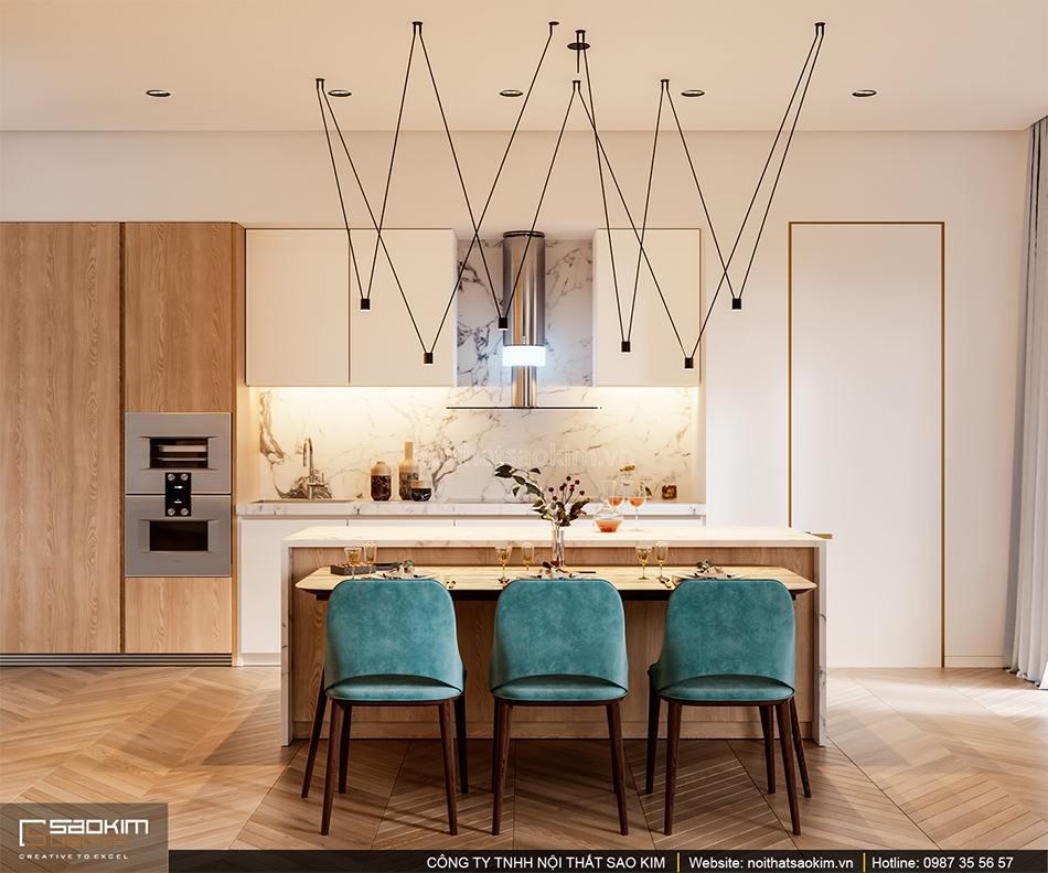Thiết kế phòng bếp căn hộ cao cấp Vinhomes West Point
