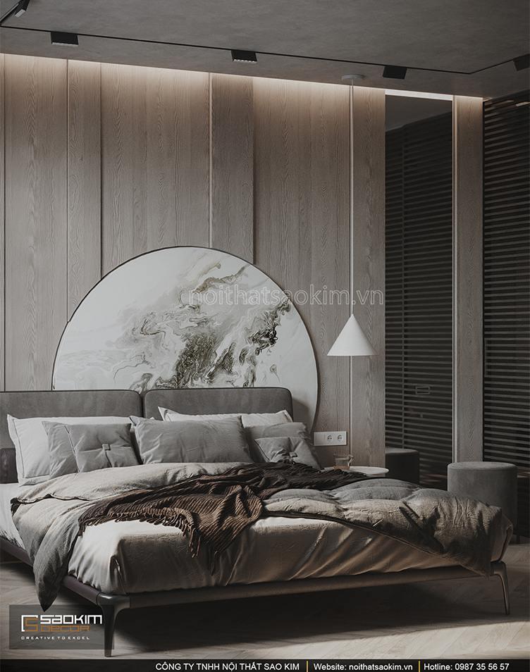 Thiết kế nội thất phòng ngủ căn hộ 43m2