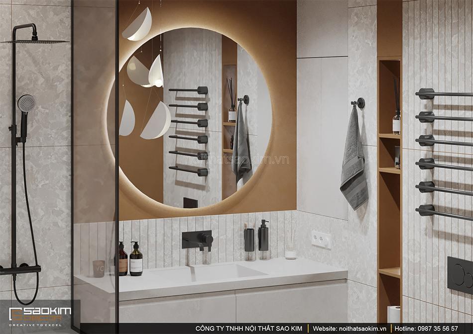 Thiết kế nội thất phòng tắm Vinhomes Smart City phân khu Sapphire