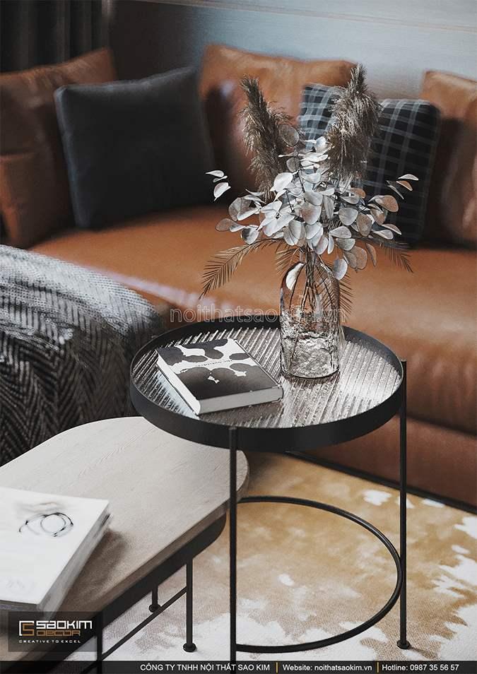 Thiết kế nội thất phòng khách căn hộ 43m2