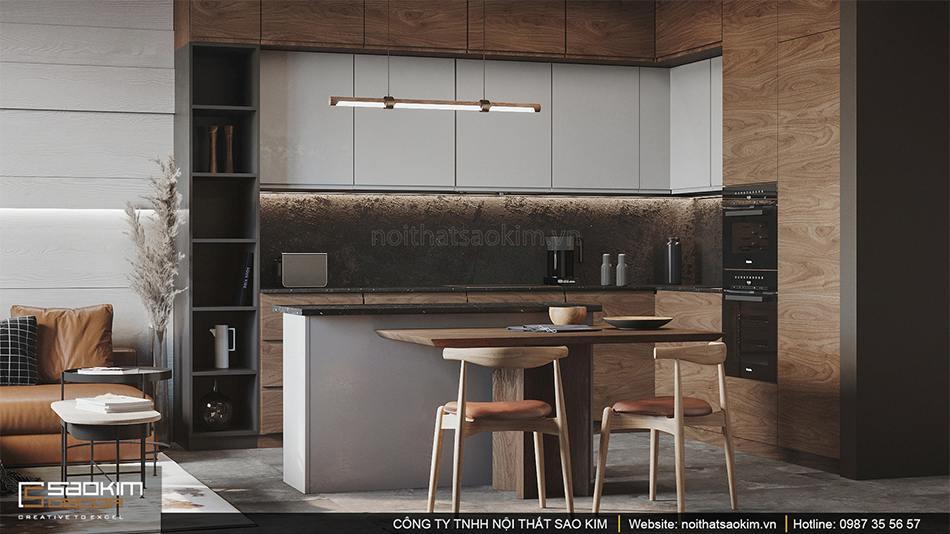 Thiết kế nội thất căn hộ nhỏ Vinhomes Smart City phân khu Sapphire