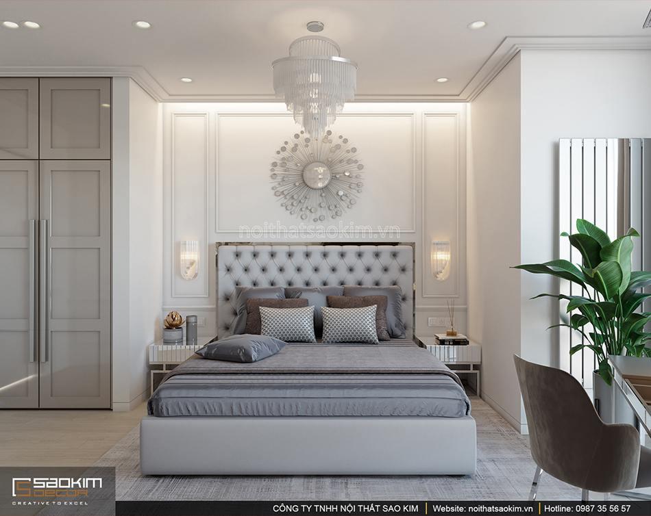 Thiết kế phòng ngủ chung cư 56m2 Sun Grand City