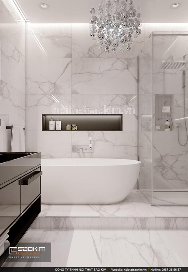 Thiết kế phòng tắm chung cư 56m2