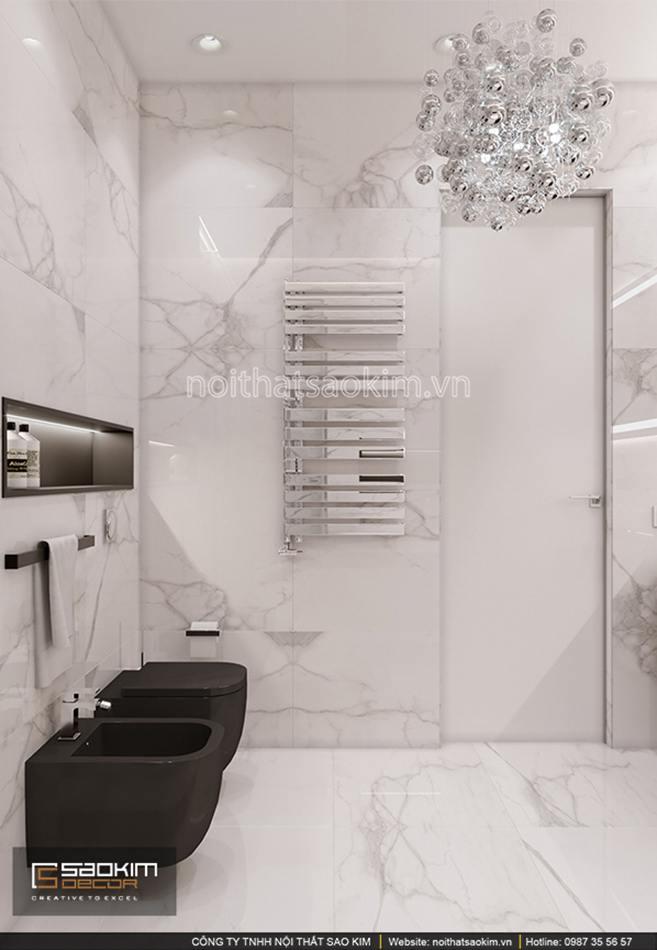 Thiết kế phòng tắm chung cư Sun Grand City